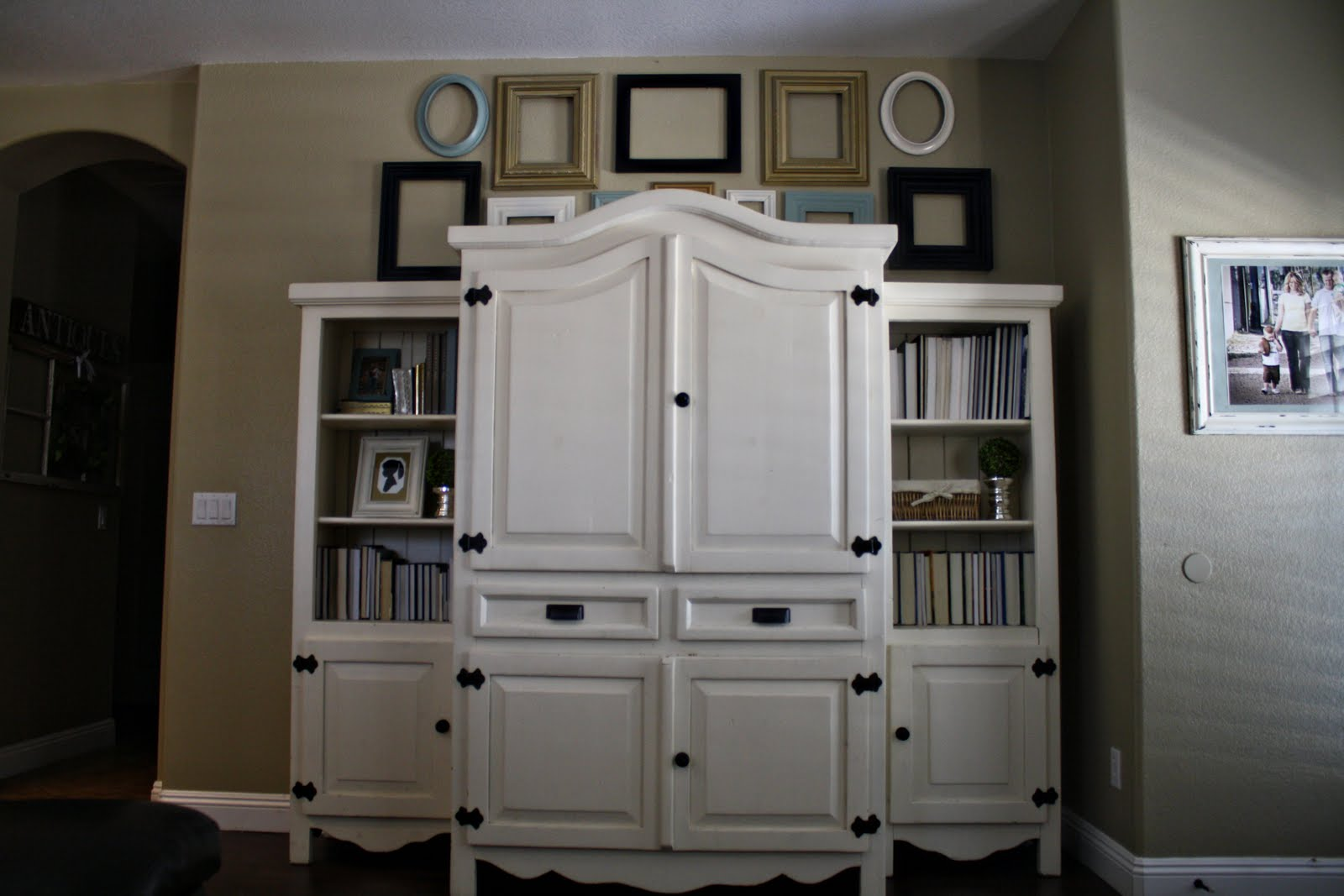 Refinished Furniture White Entertainment Center