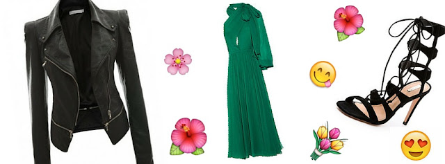 how to dress for this spring 5 must have pieces, silk voile, leather jacket, lace up sandals