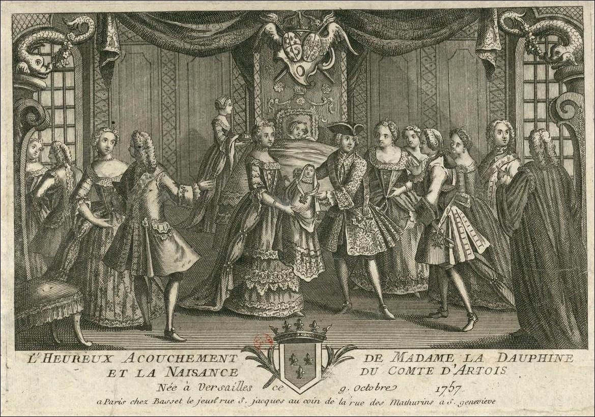 Charles X, dernier Roi de France et de Navarre: 9 octobre 1757 : naissance  de Charles-Philippe, comte d'Artois et fils de France.