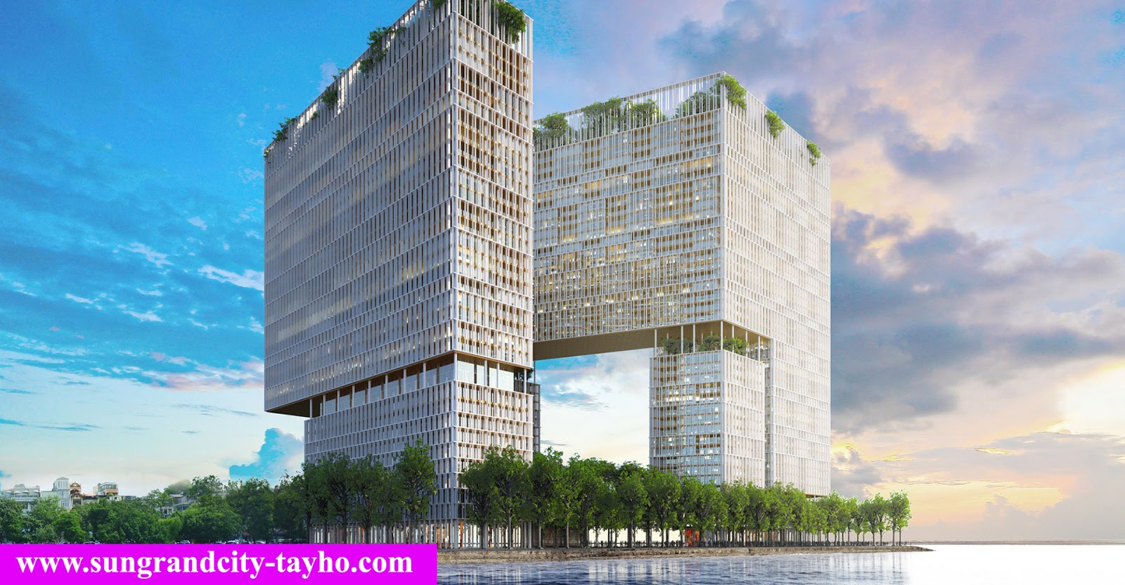 Phối cảnh dự án Sun Grand City 58 Tây Hồ - Quảng An