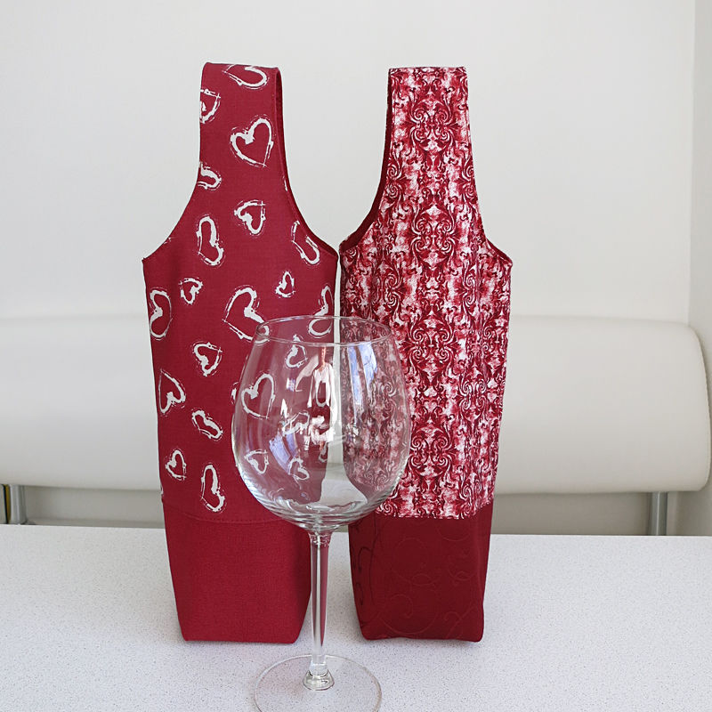 DIY Tutorial and Pattern a Bag for wine.