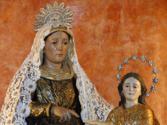 Imagen de Santa Ana y la virgen niña