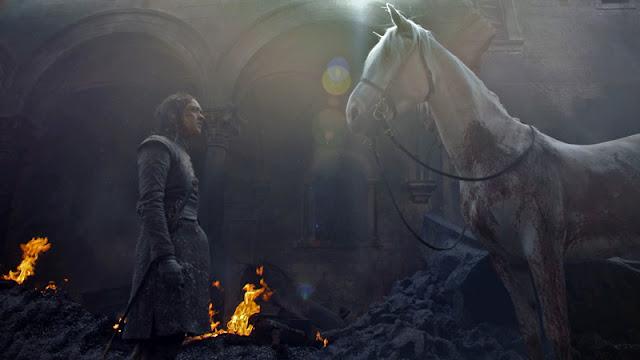 juego de tronos 8x05 arya y el caballo blanco