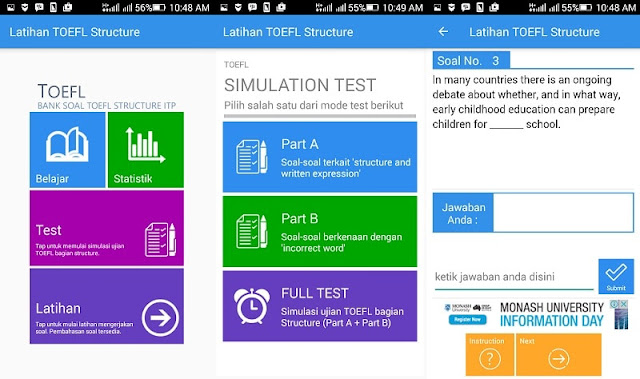 Aplikasi Android Latihan Tes TOEFL Terbaik 2018