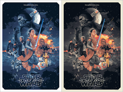 Star Wars: The Force Awakens Screen Print by Gabz x Bottleneck Gallery x Acme Archives