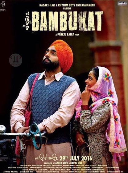 Poster of Bambukat 2016 Punjabi Full Movie 720p HDRip Download