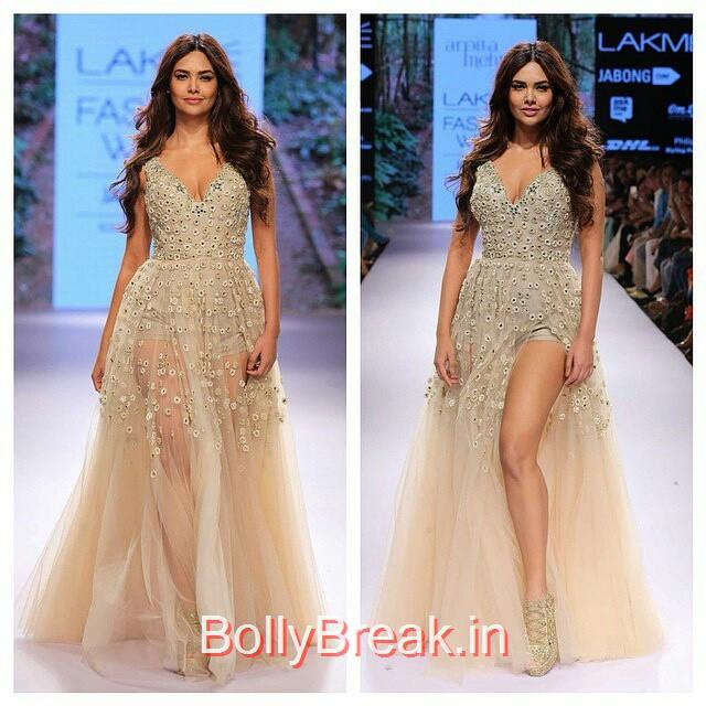 re gran n , from @belsiscollection - @egupta shows topper , for @arpitamehta_am arpita mehta ,  day , lakme fashion week , summer resort 2015 , indian couture , indian fashion designers , indian designers , fashion week , fashion designers , esha gupta ,, Esha Gupta in Arpita Mehta Dress - Lakme Fashion Week 2015