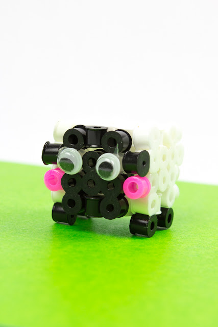 easy 3d perler bead sheep craft- how to directions for kids