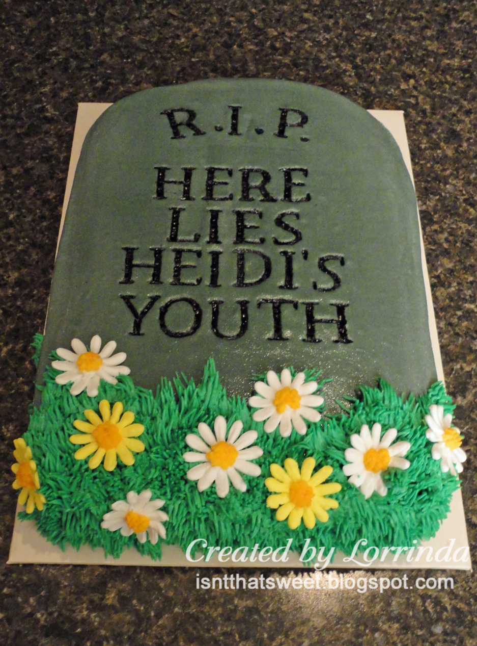What To Make A Tombstone For A Cake With