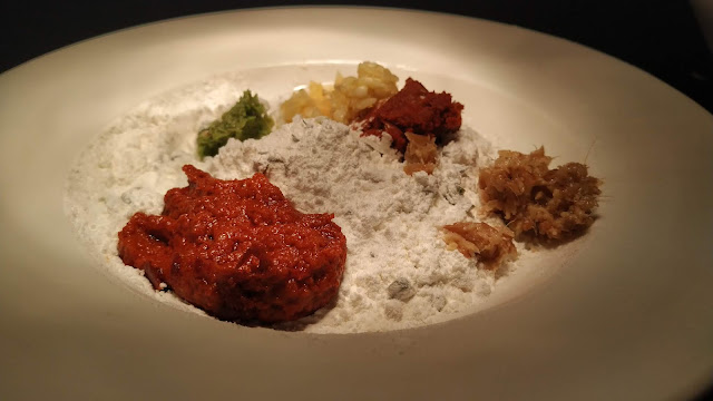 Thai curry Red Chilly Paste all purpose flour Corn flour Thai Ginger garlic in a plate Food Recipe
