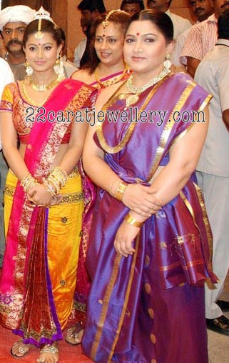 Kushboo In Kasula Peru And Kundan Set Jewellery Designs