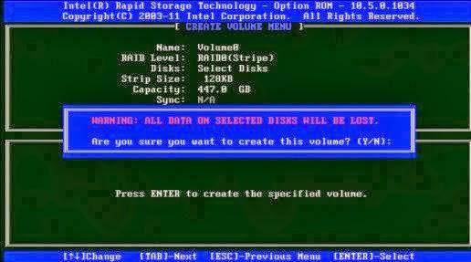 RAID Intel S1200V3RPS - Passo 8