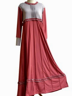 Model jubah wanita jersey klok kensi motif 2014