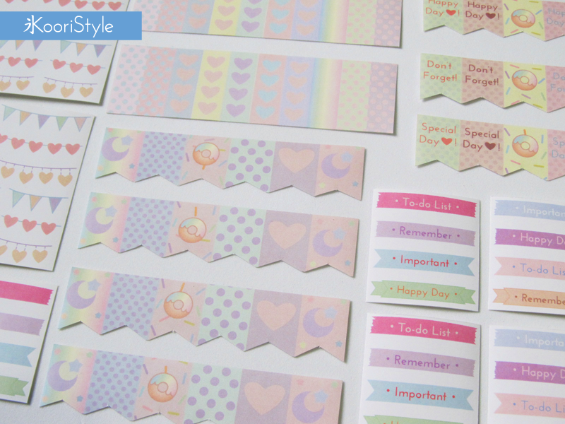 Koori KooriStyle Kawaii Cute Planner Filofax Kikki K Erin Condren Stickers Pegatinas Calcomanías Etsy Handmade Flags Weather