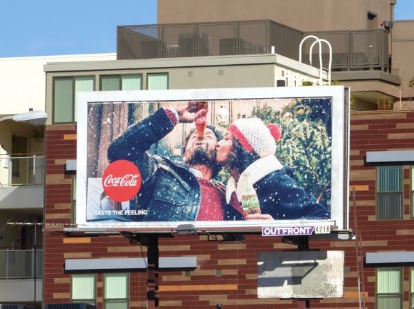 Coke Christmas 2016 billboard