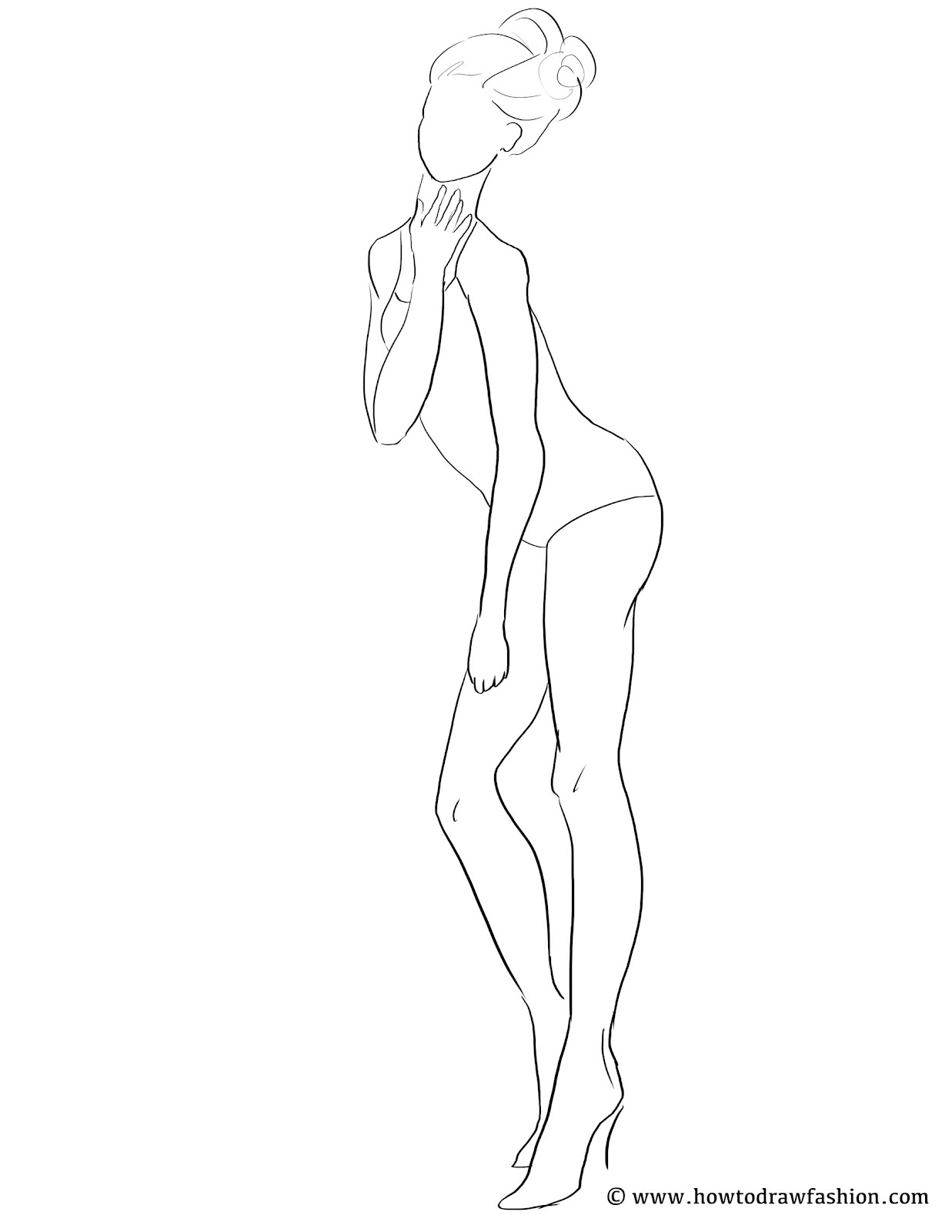 Blank Fashion Body Templates Sketch Templates