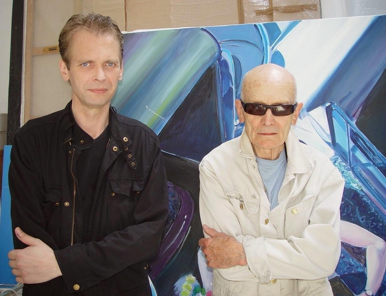 Klaus Guingand & Jacques Monory 2006 - Cachan - France  Jacques Monory studio   © Muriel Bonel