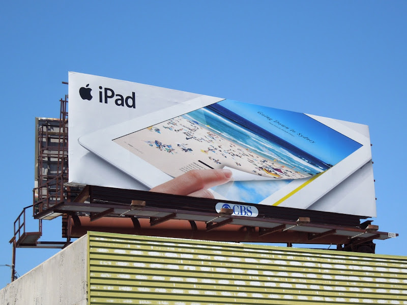 Apple iPad snap magazine billboard