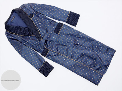 mens blue paisley quilted silk dressing gown luxury robe