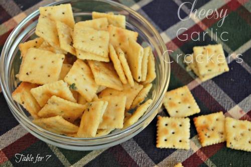Cheesy Garlic Crackers