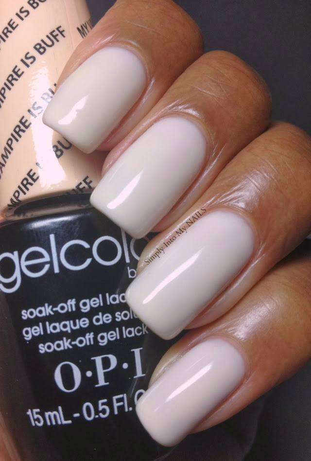 My Nail Polish Obsession My Birthday Nails: OPI Gelcolor - My Vampire Is Buff