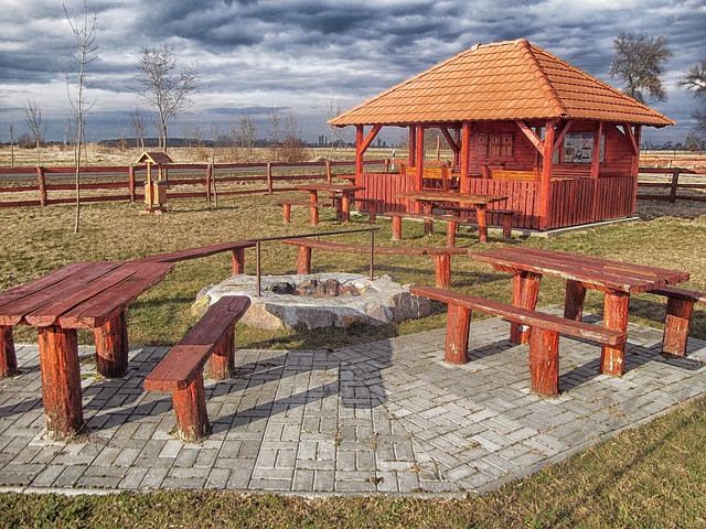 Rest Stop with Picnic Tables