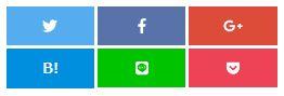 小さい画面で表示時の自作SNS共有ボタン