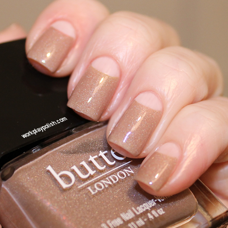 Butter London All Hail the Queen Half Moon Mani