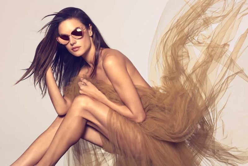 Alessandra Ambrosio for Linda Farrow Spring/Summer 2019 Campaign