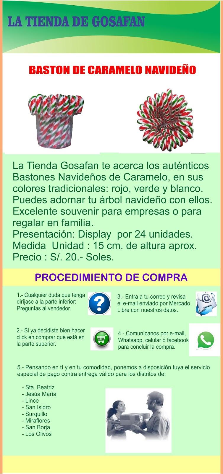 Modelos de Bastones Navideños de 15 cm,Tricolor; Rojo, Verde y Blanco