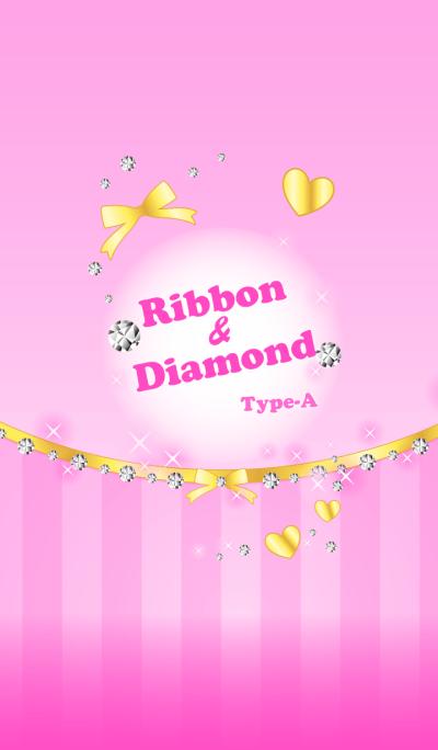 Ribbon & Diamond Type-A Pink