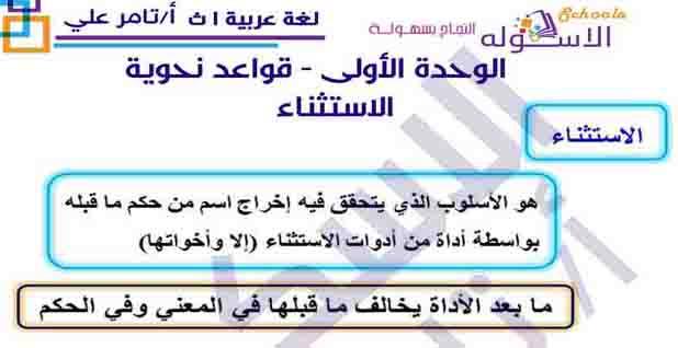 مراجعة ليلة الامتحان لغة عربية للصف الاول الثانوى الترم الثانى 2020 بعد التعديل المنهج