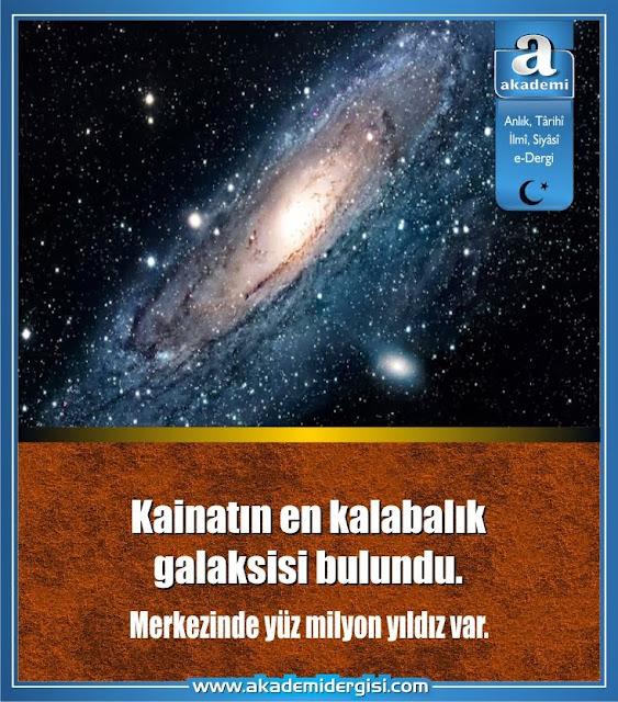 Kainatın en kalabalık galaksisi bulundu. Merkezinde yüz milyon yıldız var.