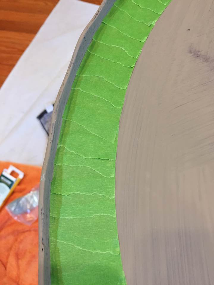 Taping off curved and rounded edges is easy!