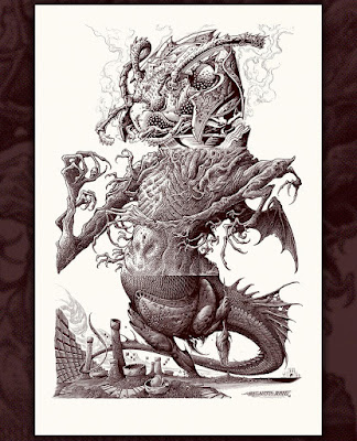 "MondoCon 4 Exclusive ""Fever Dream"" Screen Print by Aaron Horkey x Brandon Holt"