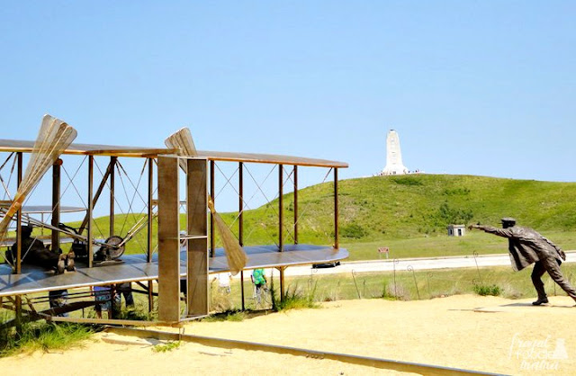 Located at mile post 7.5, the Wright Brothers National Memorial commemorates the very spot where Orville & Wilbur Wright made the first successful powered aircraft flight.