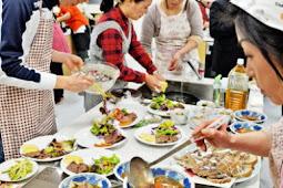 イノシシとシカの肉を使った料理講習会