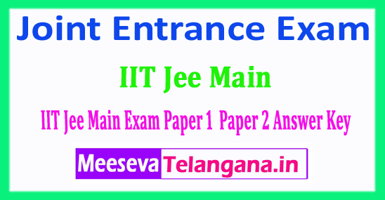 JEE Main Answer Key 2018 Central Board Joint Entrance Exam Answer Key 2018 Download