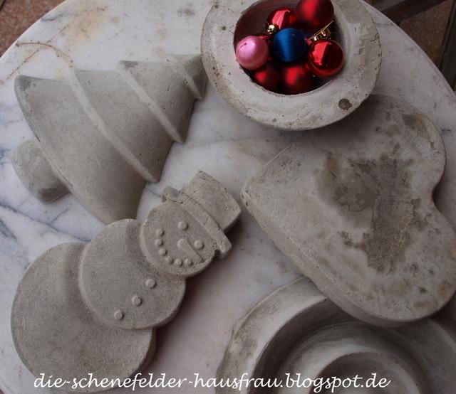 Die schenefelder hausfrau zur ck zum beton ii - Beton weihnachtsdeko ...