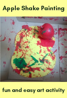 Apple Shake Painting fun and easy art activity