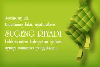 Gambar DP BBM Ucapan Lebaran Idul Fitri Bahasa Jawa