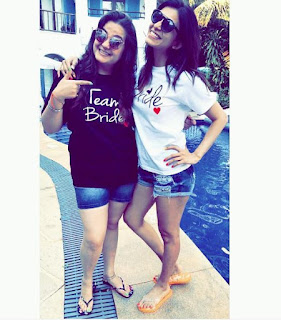 Kishwer enjoying her bachelor party