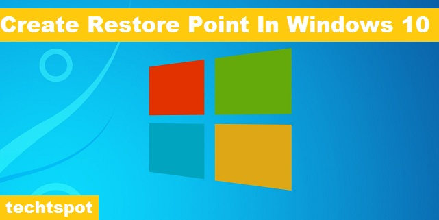how to set up a windows restore point