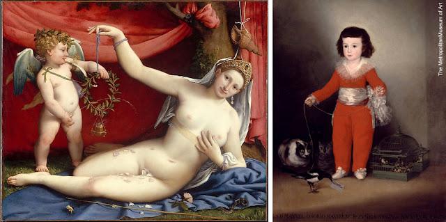 "Nova York - Museu Metropolitan - ""Vênus e Cupido"", de Lorenzo Lotto, e ""Manuel Osorio Manrique de Zuñiga"", de Goya"