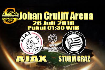 AGEN BOLA ONLINE TERBESAR - PREDIKSI SKOR LIGA CHAMPIONS AJAX VS STURM GRAZ 26 JULI 2018
