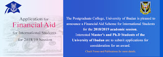 UI Postgraduate College Financial Aid for International Students 2018/19