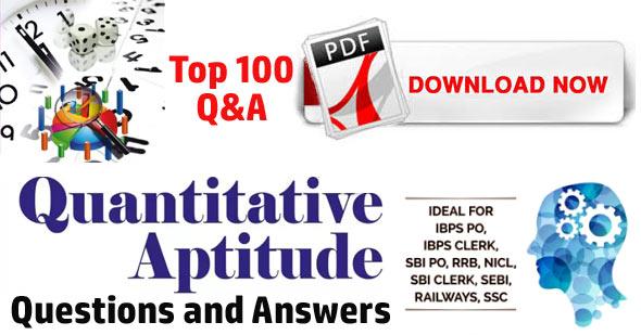 Quantitative Aptitude Questions for SBI PO/Clerk/IBPS Bank Exams