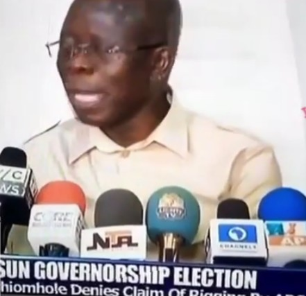 Osun Election: Oshiomhole Mistakenly Reveals The Secrets Behind APC Victory In Osun State