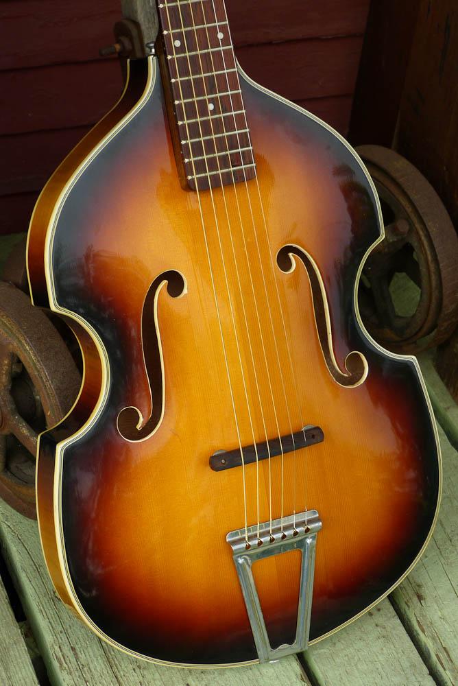 danelectro violin shaped acoustic guitar. Black Bedroom Furniture Sets. Home Design Ideas
