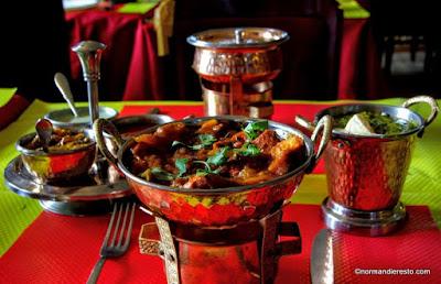 Présentation de la table du restaurant indien Namasty au Havre